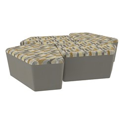 "Shapes Series II Designer Soft Seating - 18"" H CommunEDI Four-Pack - Desert/Taupe"