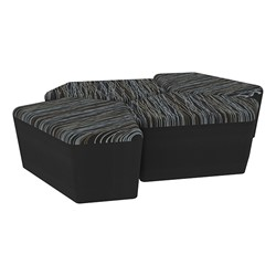 "Shapes Series II Designer Soft Seating - 18"" H CommunEDI Four-Pack - Peppercorn/Black"
