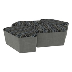 "Shapes Series II Designer Soft Seating - 18"" H CommunEDI Four-Pack - Peppercorn/Gray"