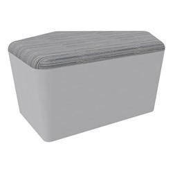 "Shapes Series II Designer Soft Seating - CommunEDI (18"" High) - Gray/Pepper"