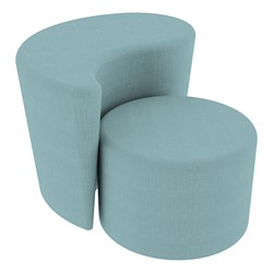 """Shapes Series II Vinyl Soft Seating - 12"""" H Cylinder & 18"""" H Teardrop (Pack of Two) - Blue Crosshatch"""