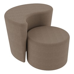 """Shapes Series II Vinyl Soft Seating - 12"""" H Cylinder & 18"""" H Teardrop (Pack of Two) - Brown Crosshatch"""
