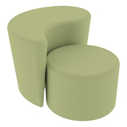 """Shapes Series II Vinyl Soft Seating - 12"""" H Cylinder & 18"""" H Teardrop (Pack of Two) - Fern Green Smooth Grain"""