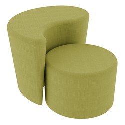 """Shapes Series II Vinyl Soft Seating - 12"""" H Cylinder & 18"""" H Teardrop (Pack of Two) - Green Crosshatch"""
