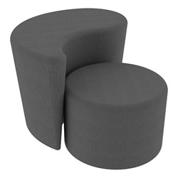 """Shapes Series II Vinyl Soft Seating - 12"""" H Cylinder & 18"""" H Teardrop (Pack of Two) - Gray Crosshatch"""