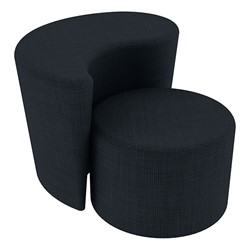 """Shapes Series II Vinyl Soft Seating - 12"""" H Cylinder & 18"""" H Teardrop (Pack of Two) - Navy Crosshatch"""
