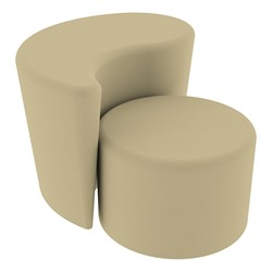 """Shapes Series II Vinyl Soft Seating - 12"""" H Cylinder & 18"""" H Teardrop (Pack of Two) - Sand Smooth Grain"""