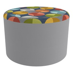 """Shapes Series II Designer Select Soft Seating - Cylinder (12"""" H) - Compass Top/Light Gray Sides"""