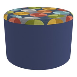 """Shapes Series II Designer Select Soft Seating - Cylinder (12"""" H) - Compass Top/Navy Sides"""