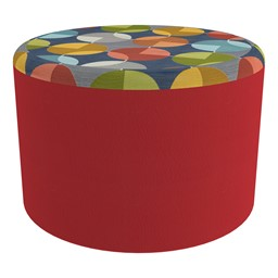 """Shapes Series II Designer Select Soft Seating - Cylinder (12"""" H) - Compass Top/Red Sides"""
