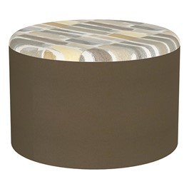 "Shapes Series II Designer Soft Seating - Cylinder (12\"" High) - Chocolate/Desert"
