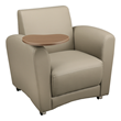 Common Area Chair w/ Tablet Arm - Taupe
