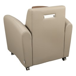 Common Area Chair w/ Tablet Arm - Back view - Taupe