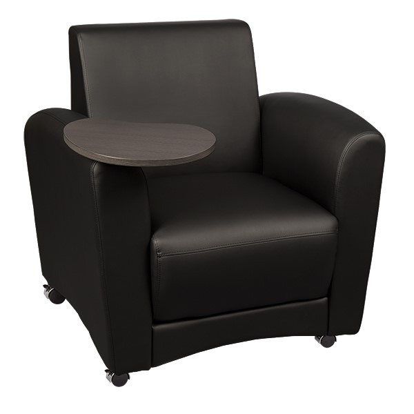 Common Area Chair w/ Tablet Arm - Black