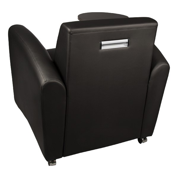 Common Area Chair w/ Tablet Arm - Back view - Black