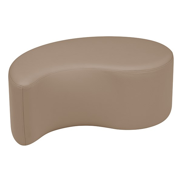 """Shapes Series II Vinyl Soft Seating - Teardrop (12"""" High) - Taupe Smooth Grain"""