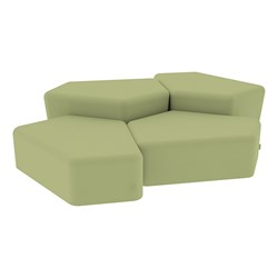 """Shapes Series II Vinyl Soft Seating - Two 12"""" H & Two 18"""" H CommunEDIs (Pack of Four) - Fern Green Smooth Grain"""