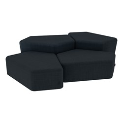 """Shapes Series II Vinyl Soft Seating - Two 12"""" H & Two 18"""" H CommunEDIs (Pack of Four) - Navy Crosshatch"""