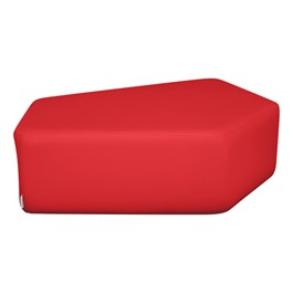 """Shapes Series II Vinyl Soft Seating - CommunEDI (12\"""" High) - Red smooth grain"""
