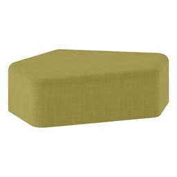 "Shapes Series II Vinyl Soft Seating - CommunEDI (12"" High) - Green Crosshatch"