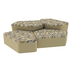 """Shapes Series II Designer Soft Seating - Two 12"""" H & Two 18"""" H CommunEDIs (Pack of Four) - Desert/Sand"""