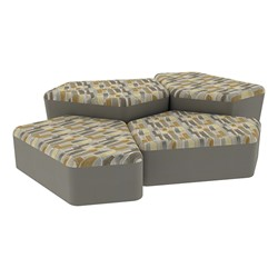 """Shapes Series II Designer Soft Seating - Two 12"""" H & Two 18"""" H CommunEDIs (Pack of Four) - Desert/Taupe"""