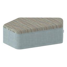 "Shapes Series II Designer Soft Seating - CommunEDI (12"" High) - Blue/Pecan"