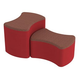 Shapes Series II Designer Soft Seating - Bow Tie - Brick/Red
