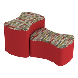 Shapes Series II Designer Soft Seating - Bow Tie - Confetti/Red