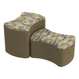 Shapes Series II Designer Soft Seating - Bow Tie - Desert/Chocolate