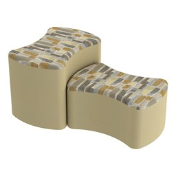 Shapes Series II Designer Soft Seating - Bow Tie - Desert/Sand