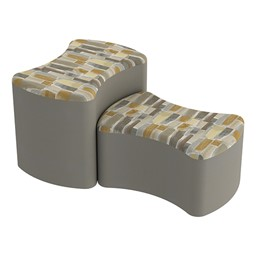 Shapes Series II Designer Soft Seating - Bow Tie - Desert/Taupe