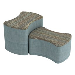 Shapes Series II Designer Soft Seating - Bow Tie - Pecan/Blue