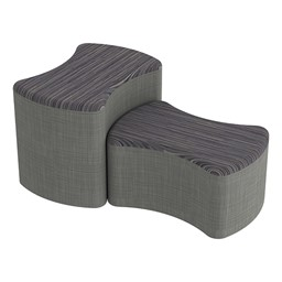 Shapes Series II Designer Soft Seating - Bow Tie - Pepper/Gray
