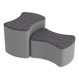Shapes Series II Designer Soft Seating - Bow Tie - Pepper/Light Gray