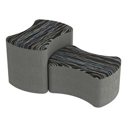 Shapes Series II Designer Soft Seating - Bow Tie - Peppercorn/Gray