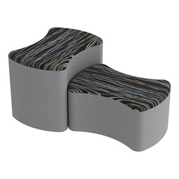 Shapes Series II Designer Soft Seating - Bow Tie - Peppercorn/Light Gray