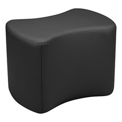 """Shapes Series II Vinyl Soft Seating - Bow Tie (18"""" High) - Black Smooth Grain"""
