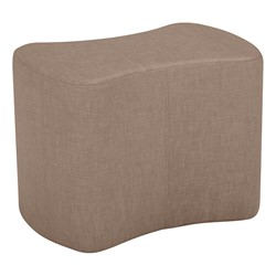 """Shapes Series II Vinyl Soft Seating - Bow Tie (18"""" High) - Brown Crosshatch"""