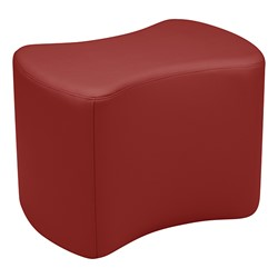"""Shapes Series II Vinyl Soft Seating - Bow Tie (18"""" High) - Burgundy Smooth Grain"""