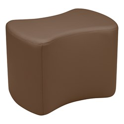 """Shapes Series II Vinyl Soft Seating - Bow Tie (18"""" High) - Chocolate Smooth Grain"""
