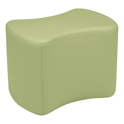 """Shapes Series II Vinyl Soft Seating - Bow Tie (18"""" High) - Fern Green Smooth Grain"""