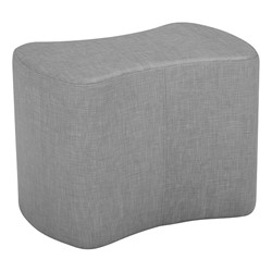 """Shapes Series II Vinyl Soft Seating - Bow Tie (18"""" High) - Gray Crosshatch"""