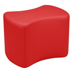 """Shapes Series II Vinyl Soft Seating - Bow Tie (18"""" High) - Red Smooth Grain"""