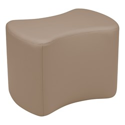 """Shapes Series II Vinyl Soft Seating - Bow Tie (18"""" High) - Taupe Smooth Grain"""