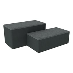 "Shapes Series II Designer Soft Seating - Bench Ottoman (18"" High) - Atomic/Navy"