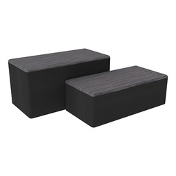 "Shapes Series II Designer Soft Seating - Bench Ottoman (18"" High) - Pepper/Black"