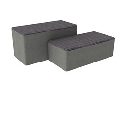 "Shapes Series II Designer Soft Seating - Bench Ottoman (18"" High) - Pepper/Gray"