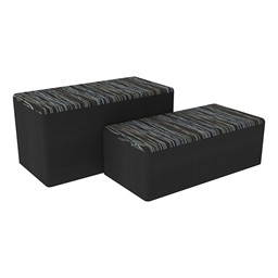 "Shapes Series II Designer Soft Seating - Bench Ottoman (18"" High) - Peppercorn/Black"