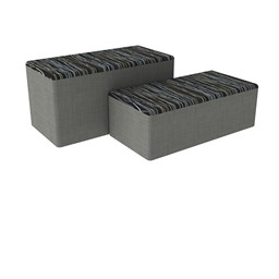 "Shapes Series II Designer Soft Seating - Bench Ottoman (18"" High) - Peppercorn/Gray"